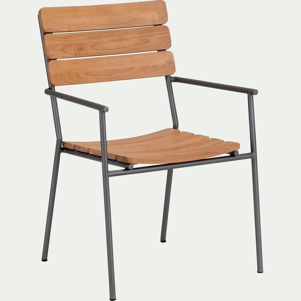 Chaise De Jardin Empilable En Metal Et Eucalyptus Ramatuelle Chaise De Jardin Alinea In 2020 Outdoor Furniture Outdoor Chairs Outdoor Decor