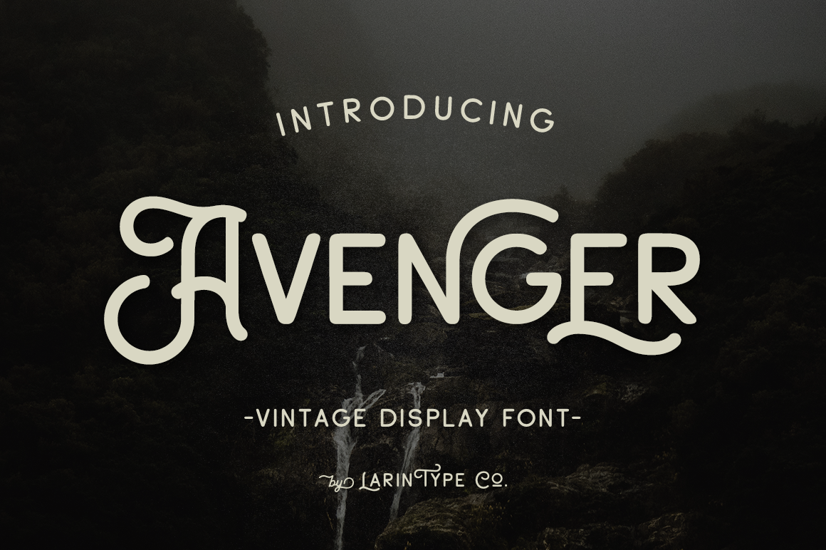 Avenger (Font) by Pasha Larin Vintage display, Fonts
