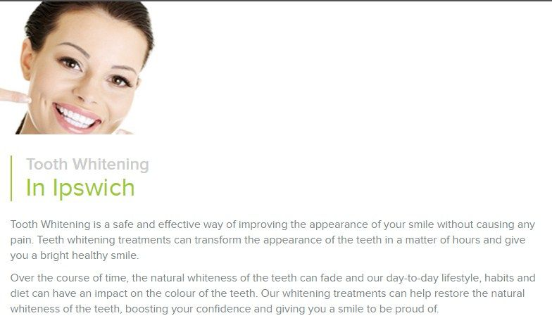 Treatment is carried out by the patient him/herself, but the dentist monitors the process. A change is noticeable usually within two weeks but the process can be carried on for longer. Darker brown discolouration may take longer and may not change completely.  http://gbdental.co.uk/tooth-whitening/