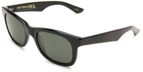 Electric Visual Detroit Xl Polarized Square Sunglasses Gloss Black Frame Grey Glass Polar Lens One Si Square Sunglasses Rectangular Sunglasses Grey Sunglasses