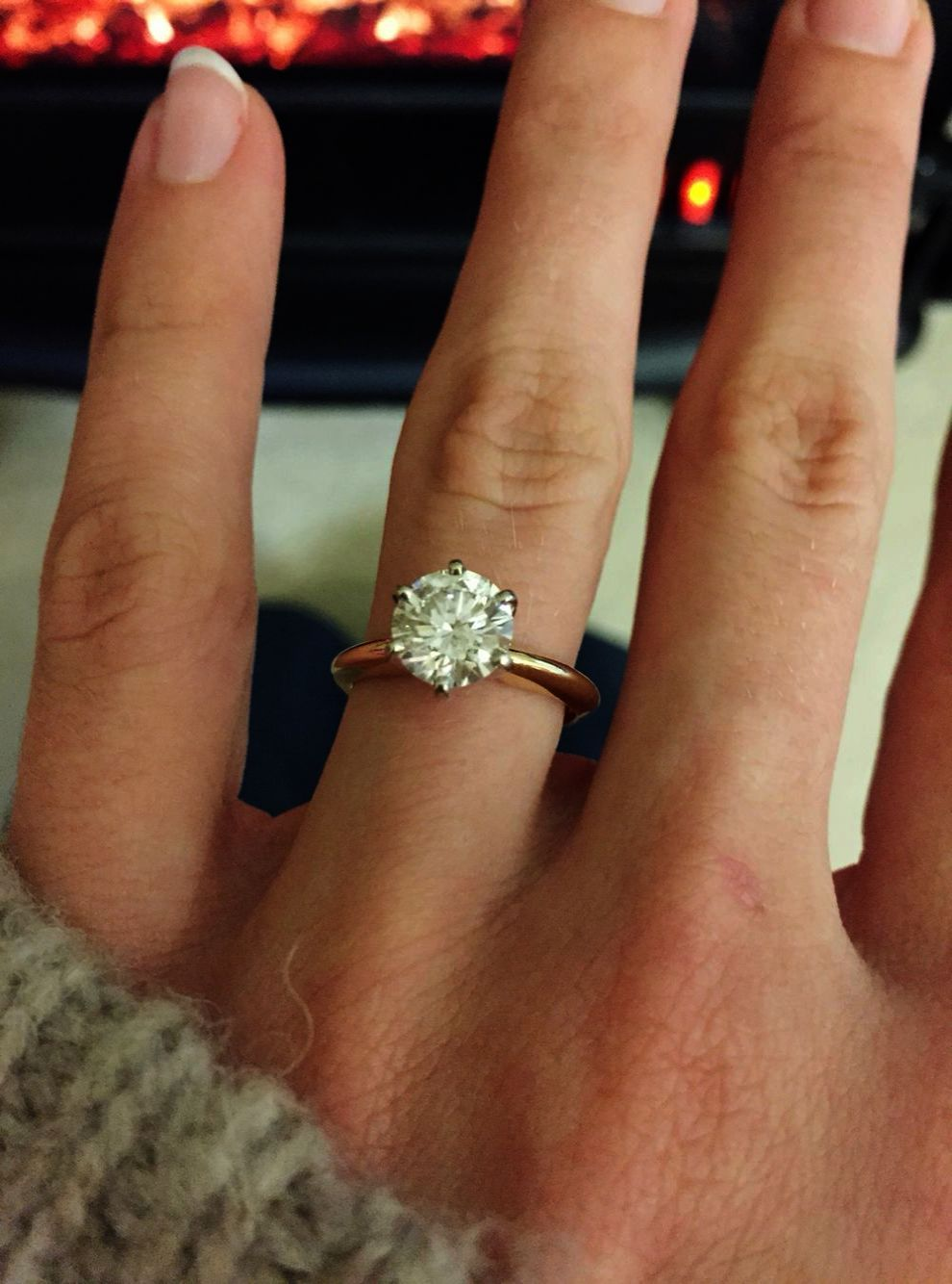 White Gold Flower Solitaire Ring Solitaire Ring Near Me