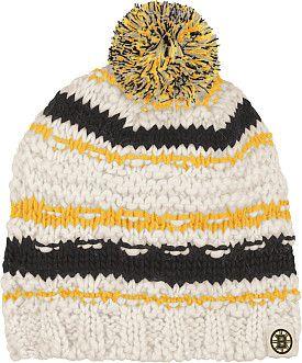 Reebok Boston Bruins Women s Knit Hat with Pom - Shop.NHL.com ... 54eefacde