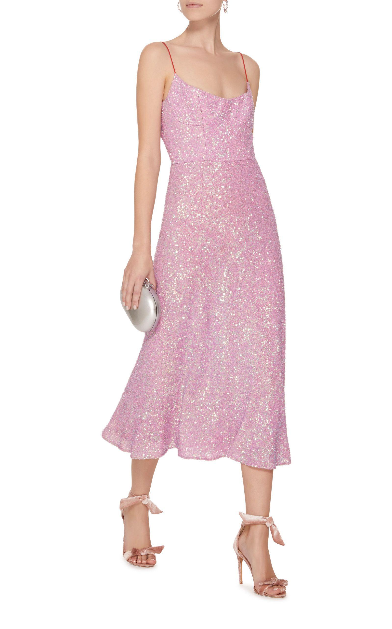 ccb858e57e5 Exclusive Heart Of Glass Sequin Silk Midi Dress in 2019