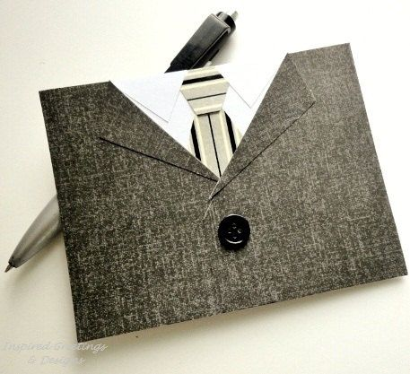 Mens Suit Tie Greeting Card For Him – Mad Men Birthday Card
