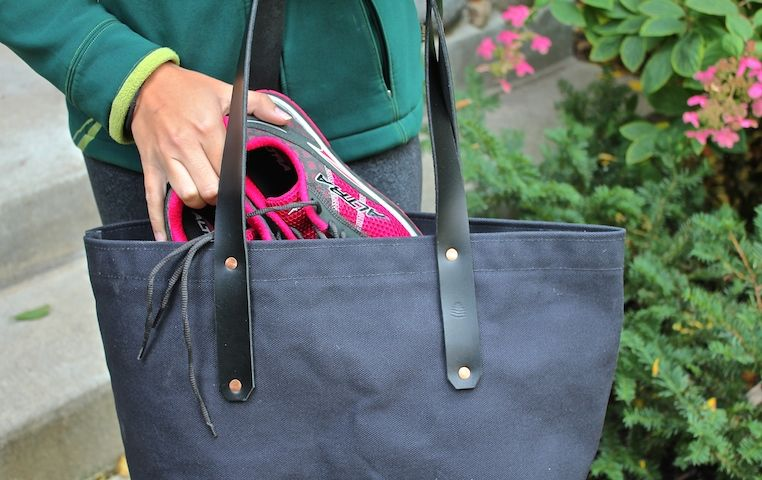 Heavy black canvas tote.  Useful tools for everyday life.