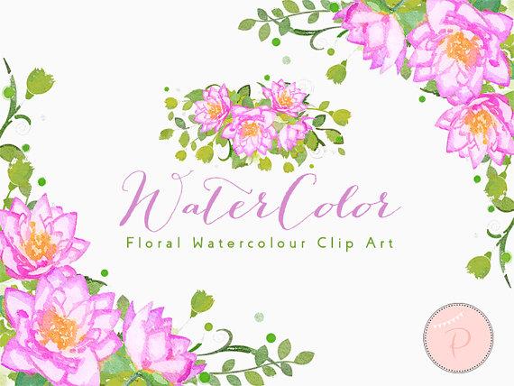 Watercolor Flower, Light Pink Dahlia Clip art, Watercolor Floral ...