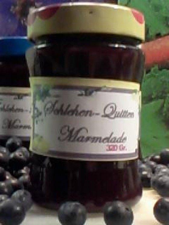 Schlehen-Quitten-Marmelade Rezept