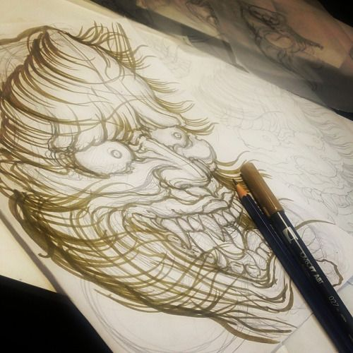 Somanylines-So Many Lines. #sketch #drawing #hannya...