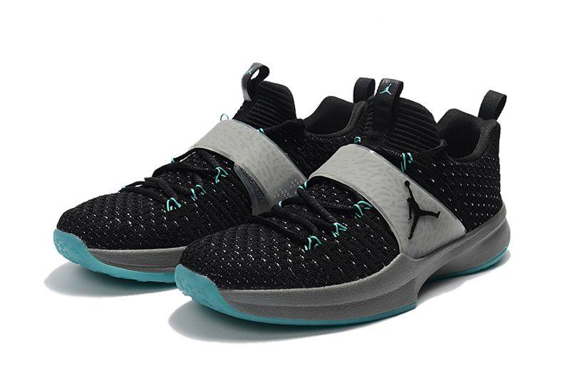 Nike Jordan Trainer 2 Flyknit Mens Size 11.5 Black Cool Grey Jade 921210-014