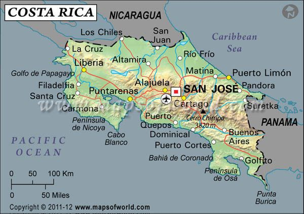 Costa rica latitude and longitude map mexico central america costa rica latitude and longitude map gumiabroncs Image collections