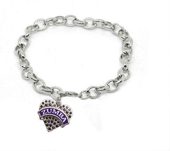 0e9a83e22c0bd Zumba Charm Bracelet In Silver Tone Zumba Jewelry by NSCJewels ...
