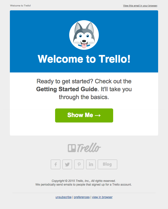 Welcome To Trello  Email Design    Email Newsletters