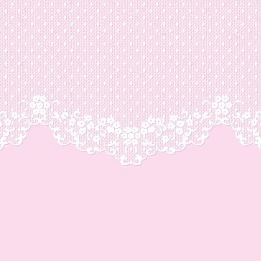 White Lace With Pink Background Vector 01 Arabesco Rosas