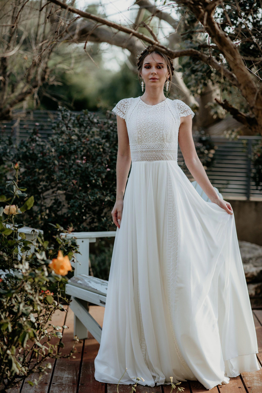 Short Sleeve Womens Dress Vintage Ivory Inspirational BOHO   Etsy ...