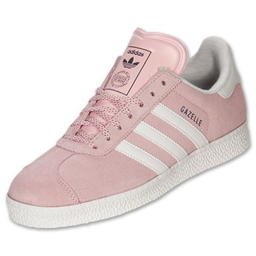 Womens Adidas Gazelle II Originals Sneakers New, Light Pink White G60435