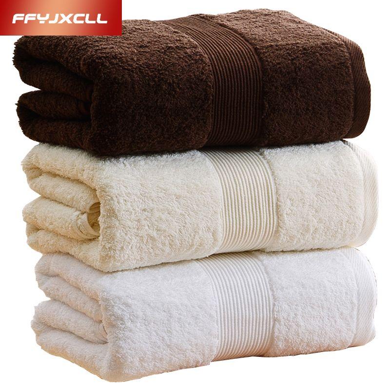Luxurious Enjoyment Towels Bathroom Plain Solid Color 180 80cm