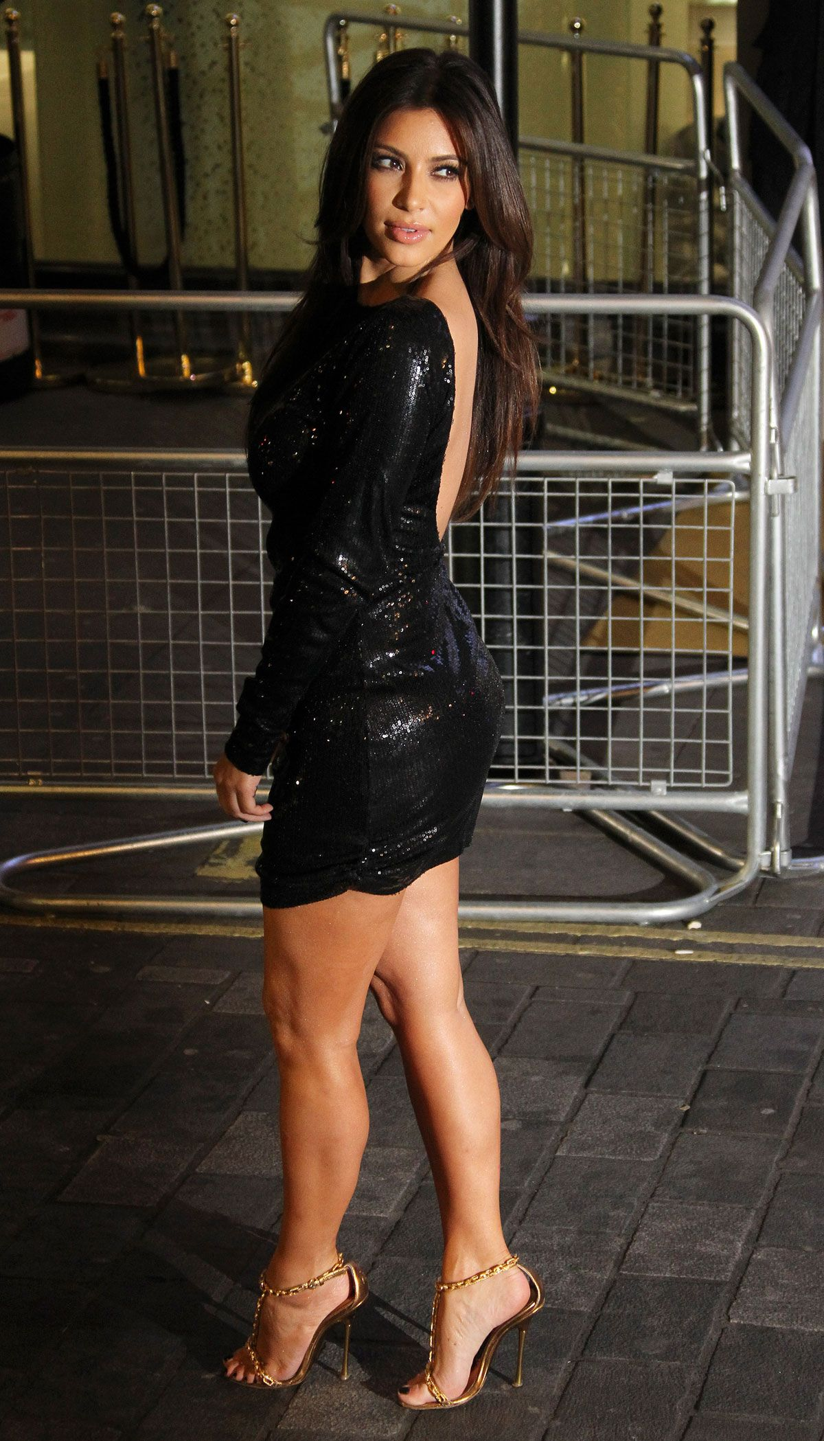 Kim Kardashian Arrives For Their Kollection Uk Launch At Acqua Club In Central London Thursday Nov