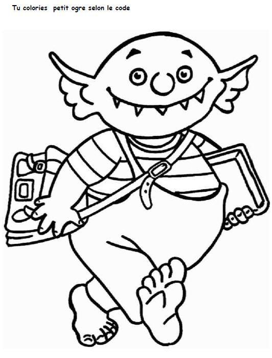 Coloriage Codé Petit Ogre Ogre Et Ogre Maternelle