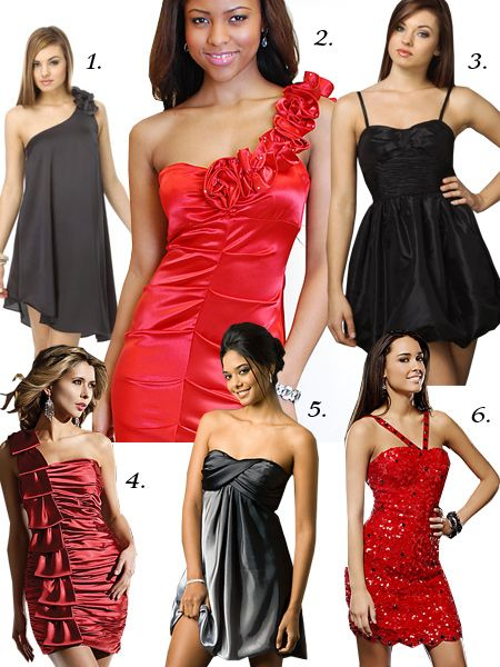 Sexy Black & Red Prom Dresses