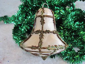 Angel Hair Christmas Decoration.Bell Filled With Angel Hair Vintage Christmas Ornaments