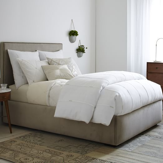 Pivot Storage Bed Frame - Stone | west elm | Beds | Pinterest ...