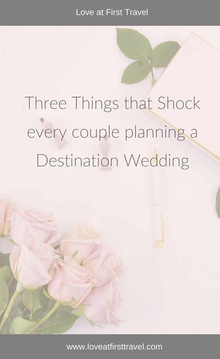 3 Things that shock every couple planning a Destination