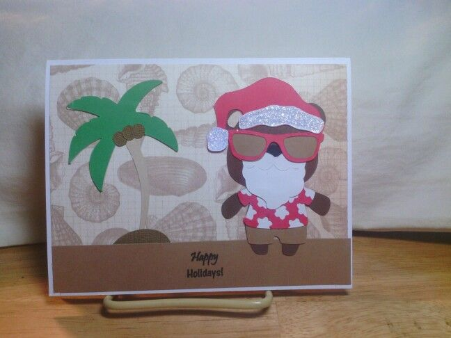Palm tree from Life is a beach and Santa from teddy bear parade and create a critter for the beard