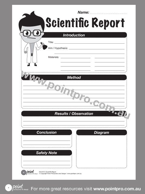 Scientific Report - Template report degan Pinterest - accident reports template
