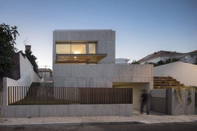 Gartenmauer Beton Design Eisen Ideen Sichtschutz Vorgarten | Haus ... Mauerwerk Als Sichtschutz Haus Design Idee