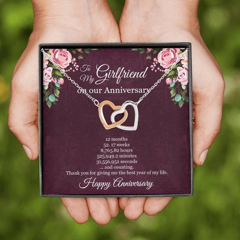 1st Year Anniversary Gift For Girlfriend Girlfriend Anniversary Necklace First Year Anniversary One Year Dating Anniversary Girlfriend In 2020 1 Year Anniversary Gifts Year Anniversary Gifts Anniversary Gifts