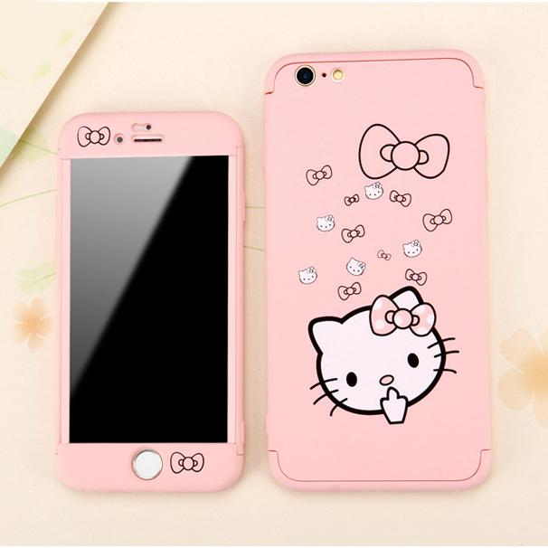 big sale 570c9 d56d3 Cute Hard Cases for iPhone 6 6S 7 8 Plus Cartoon Mickey Minnie Hello ...