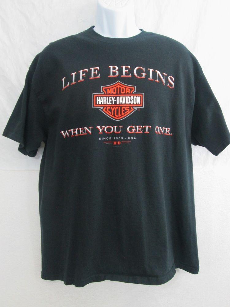 f3087234 Harley-Davidson Motorcycle Graphic Tee T-Shirt Black Men's Size XL # HarleyDavidson #GraphicTee