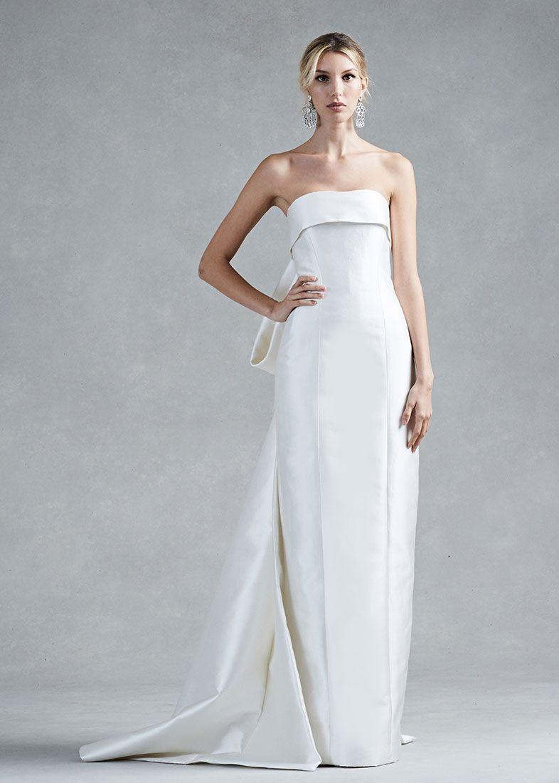 Wedding Wedding Dresses Orlando colum fit silk wedding dress from fallwinter 2017 oscar de la renta collection from