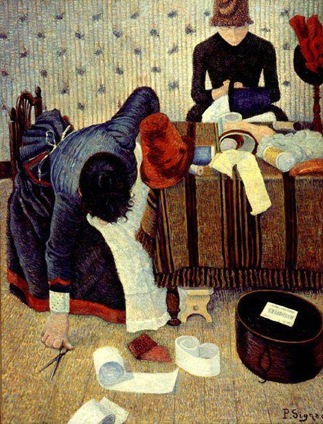 Paul Signac, The Milliner, 1885 on ArtStack #paul-signac #art