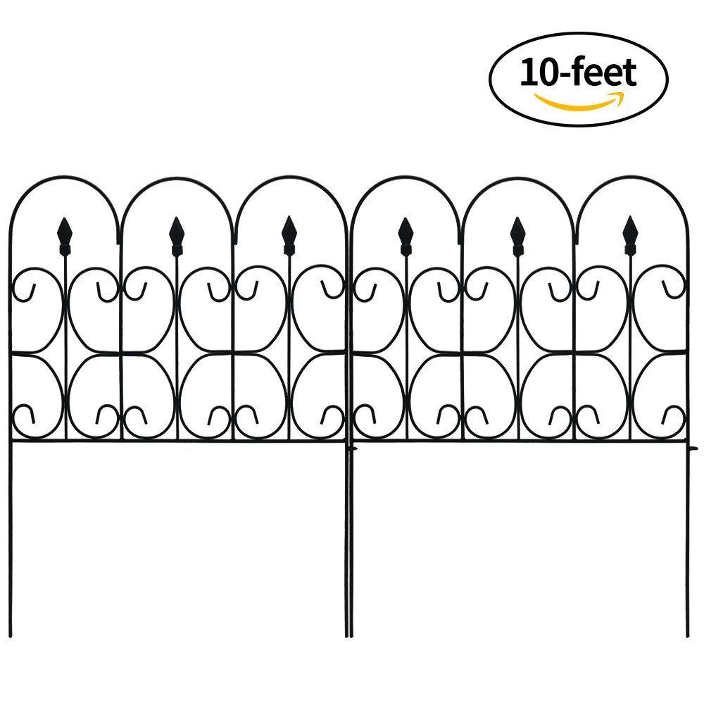 Amagabeli Decorative Garden Fence Outdoor Coated Metal Rustproof ...