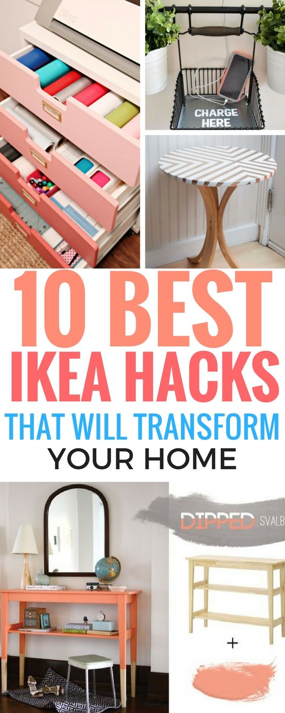 10 Ikea Hacks That Are Superb And Easy To Do. If you're looking for a cheap alternative to upgrade your home decor, then this post includes the perfect ikea hack ideas such as storage options, diy table makeovers and so much more. I wish I found number 4 and 7 sooner! Really AWESOME diy home decor, room decor, and kitchen ideas