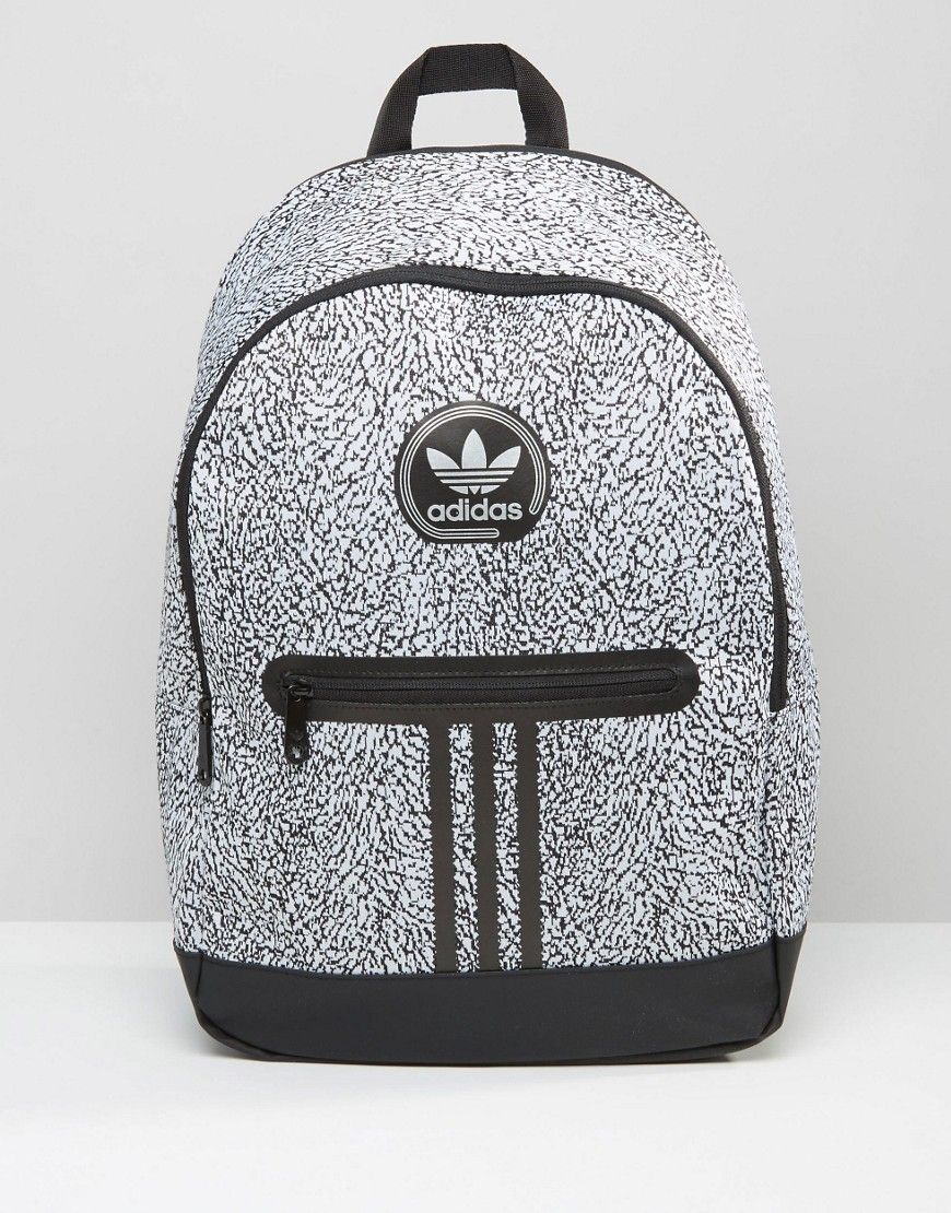 b4b159f544 Image 1 of adidas Originals Backpack With Print In Black AY7837