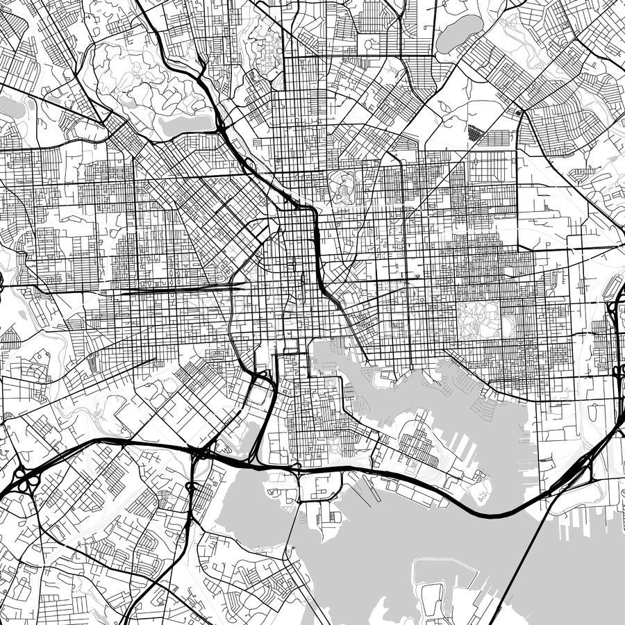 Map Of Baltimore Maryland Streit