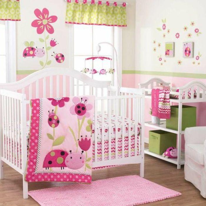 Babyzimmer Grau Rosa 1001 ideen für babyzimmer mädchen gelber marienkäfer deko