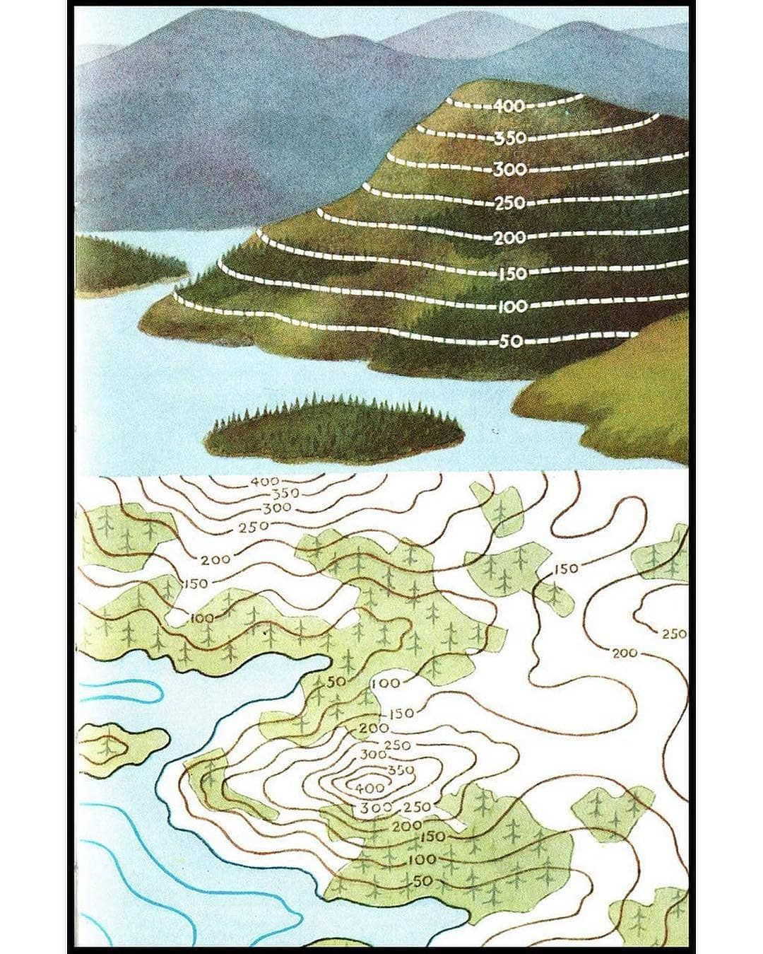 How To Read Contour Lines On Topographic Maps Map Maps Cartography Geography Topography Mapping Mappe Carte M Teaching Geography Map Topographic Map