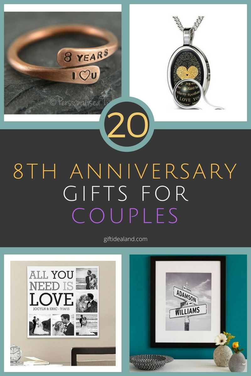 20 good 8th wedding anniversary gift ideas for couples