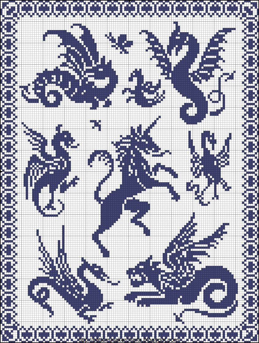 Sajou motifs anciens Sajou No 290 | Knitting | Dragon cross