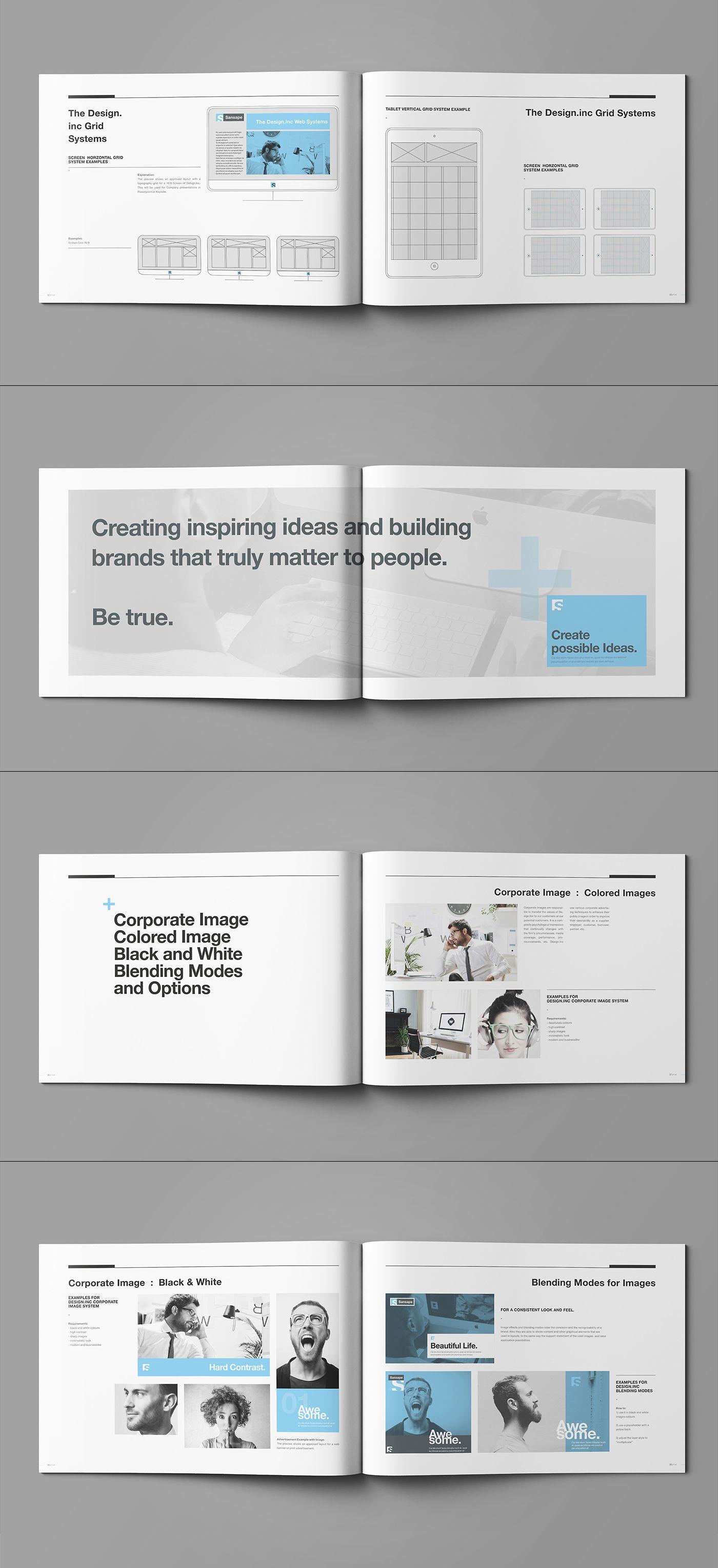 Brand Manual And Identity Template Corporate Design Brochure