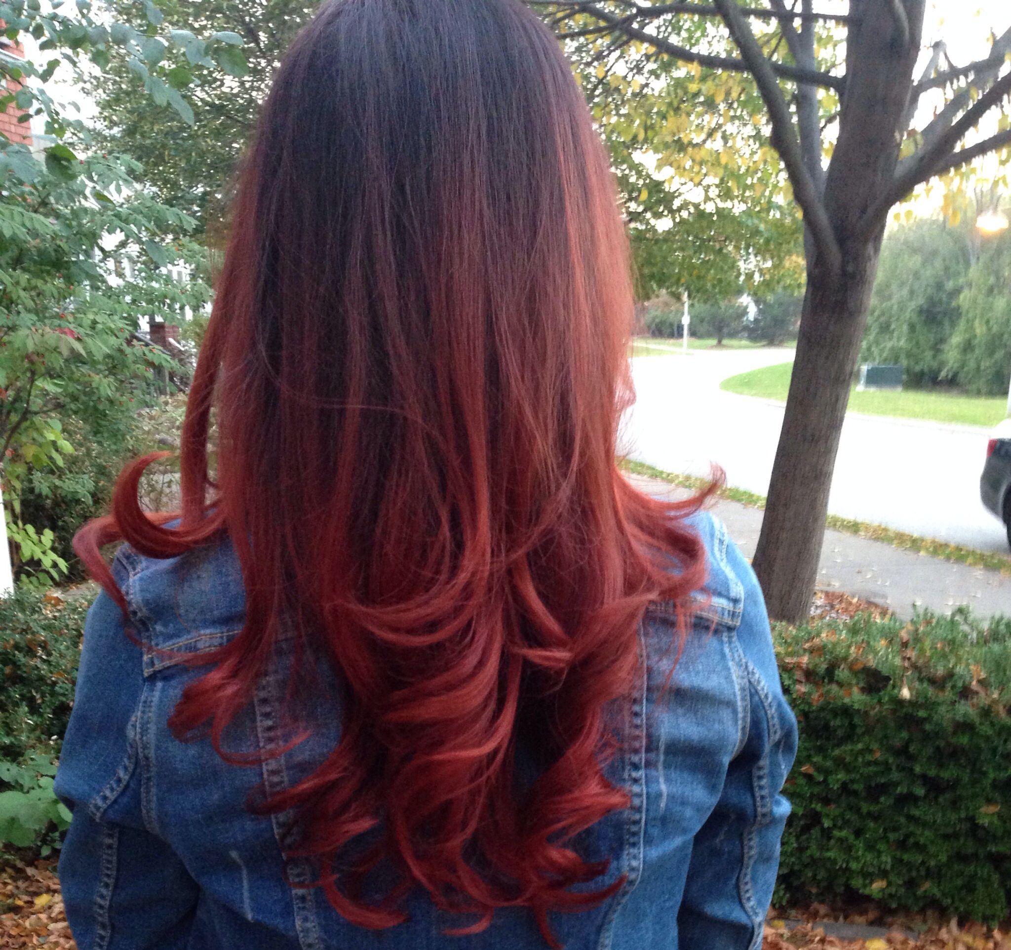 Hair ombre hair red hair inspiration pinterest ombre hair