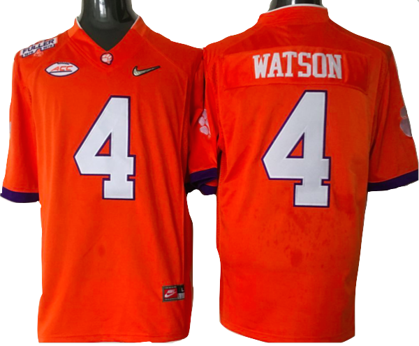 sports shoes 2bcfc 6b1ce Clemson Tigers Jersey - #4 Deshaun Watson Diamond Quest ...