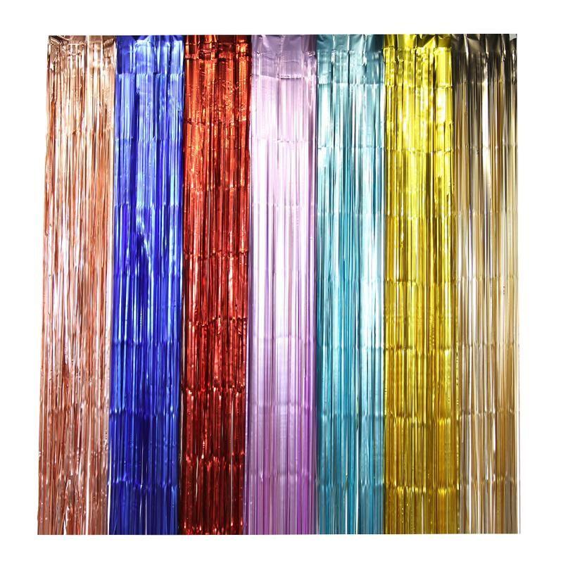 Wholesale Party Decoration Hanging Backdrop Fringe Metallic Tinsel
