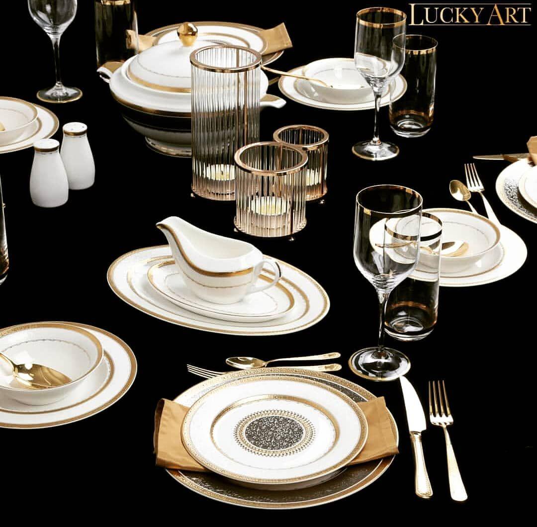Star Dekor 62 Parça Altın Yeni Yemek Takımı Özel sofralarda masanıza şık zarif ve iddalı bir hava katacak.. . . . . sunum mutfak