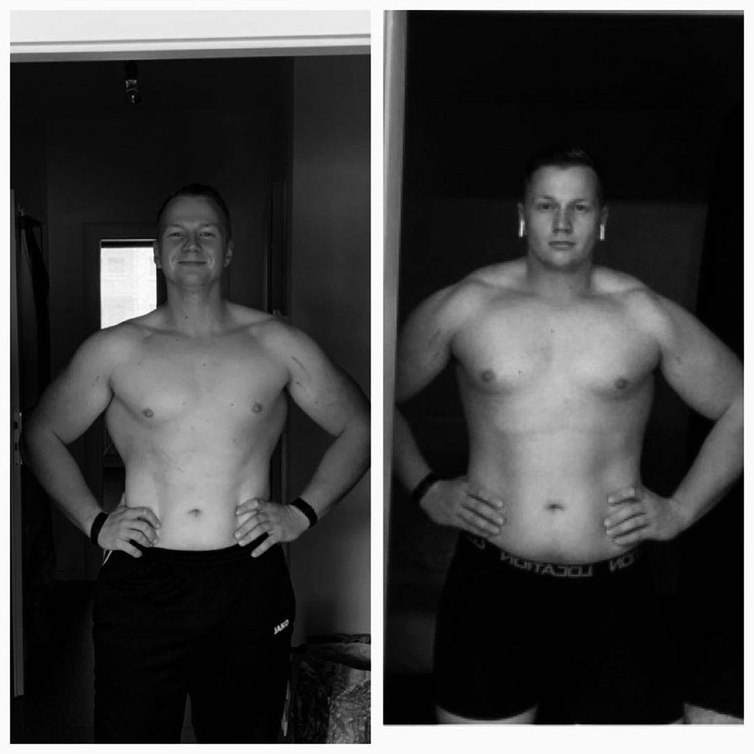 Links 2019 und 99kg, Rechts 2018 und 110 kg  #transformation#fitness#gym#gymfreak#bodytransformation...