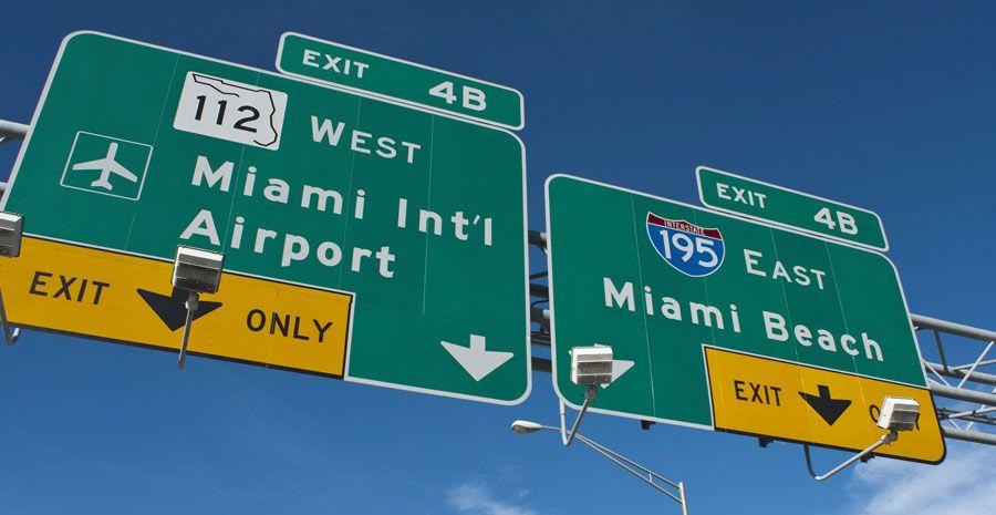 Mein Erfahrung und Tipps wie du vom Miami International Airport am schnellsten und günstigsten nach Miami und Miami Beach (South Beach) kommst.