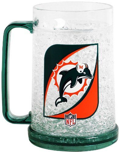 nfl miami dolphins 36 ounce crystal freezer monster mug by duck